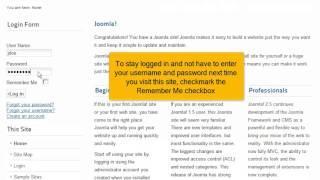 Hoe log je in op een Joomla! 2.5 website