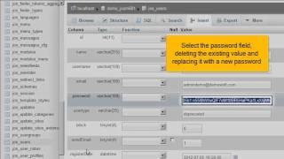 Hoe stel je je Joomla! 2.5 administrator wachtwoord opnieuw in met phpMyAdmin