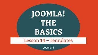 Joomla 3 Tutorial - Lesson 14 - Templates