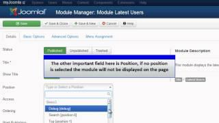 Joomla 3.0 - Latest Users Module
