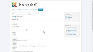 Using the Joomla 3 Search Component