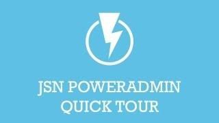 JSN PowerAdmin Quick Tour | Joomla Extension Video