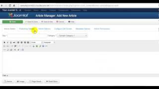 Joomla 3.0 Tutorial #6: Creating Articles
