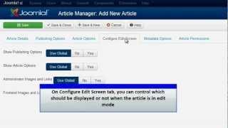 Joomla 3.0 - Add an Article
