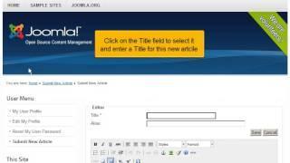 Hoe dien je een nieuw artikel in in Joomla! 2.5