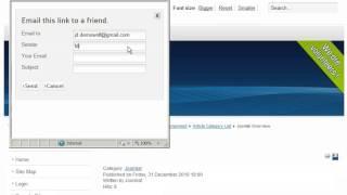 Hoe verstuur je een artikel per e-mail in Joomla! 2.5