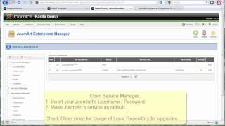 JA Extensions Manager - Video 4