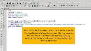 Hoe stel je je Joomla! 2.5 administrator wachtwoord opnieuw in met een eigen PHP script