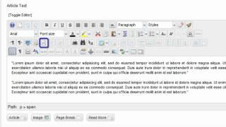 Tutorial #9: An Overview of the JCE Editor