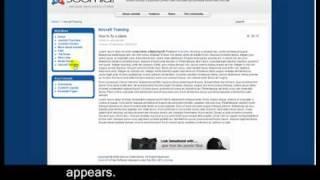 Joomla 1.5 Tutorial - Lesson 8 - Menus