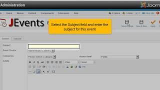 Hoe voeg je een evenementen kalender toe in Joomla! 2.5