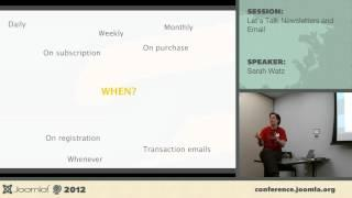 Let's talk newsletters and e-mails - Sarah Watz