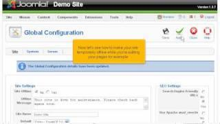How to access&update the global configuration settings | SiteGround Joomla Tutorial