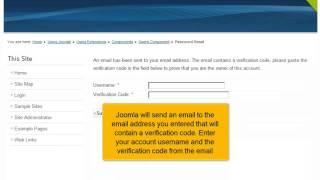 Hoe stel je je gebruikers wachwoord opnieuw in Joomla! 2.5
