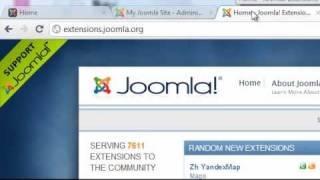 Joomla 1.7/1.6 Tutorial - Lesson 12 - Extensions