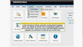 Joomla 1.6 Trash Manager