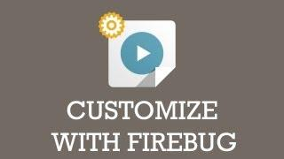 How to customize the Joomla Template with Firebug