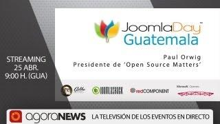 Paul Orwig, Presidente De Open Source Matters En Joomla Day Guatemala