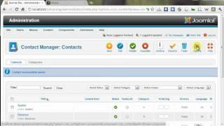 Using the Joomla Contacts Components