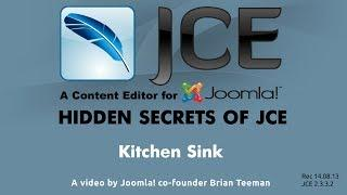JCE WYSIWYG editor for Joomla - Kitchen Sink