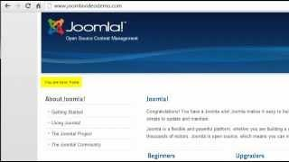 Joomla 2.5 Tutorial - Lesson 11 - Frontend