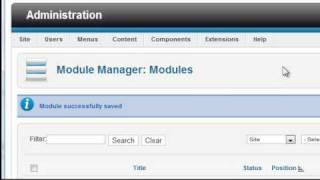 Joomla 1.7/1.6 Tutorial - Lesson 9 - Modules