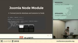Node.js and Joomla - Joseph LeBlanc