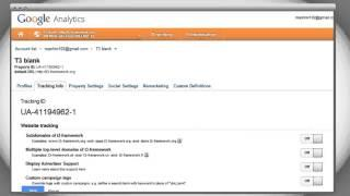 T3 Framework Video Tutorials - How to install Google Analytic