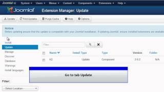 Joomla 3.0 - Update Extension