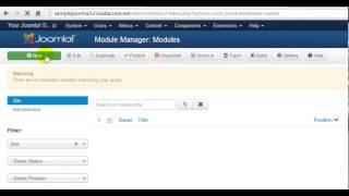 Joomla 3.0 Tutorial #11: Menu Modules