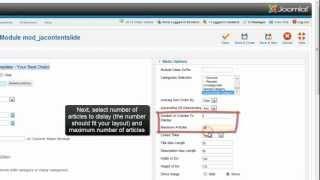 Joomla 2.5 - Content Slider module