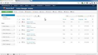 Navigating the Joomla 3 Admin Area