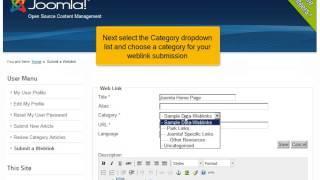 Hoe dien je een weblink in in Joomla! 2.5