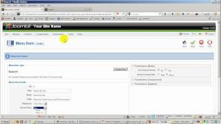 How to create a search menu in Joomla 1.5