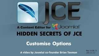 JCE WYSIWYG editor for Joomla - Customise Options