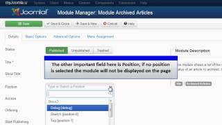 Joomla 3.0 - Archived Article Module