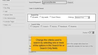 Hoe zoek je naar inhoud in Joomla! 2.5