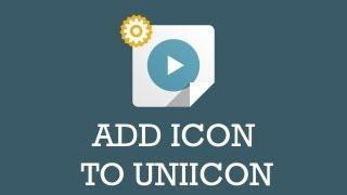 Customize JSN template video: Add new icon to UniIcon