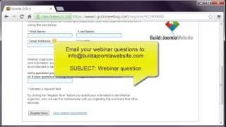 Free Joomla Webinar - question and answer