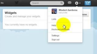 een twitter widget in joomla maken